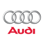 Audi brand logo with transparent background