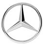 Mercedes-Benz brand logo with transparent background