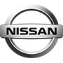 Nissan brand logo with transparent background