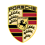 Porsche brand logo with transparent background