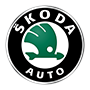 Skoda brand logo with transparent background